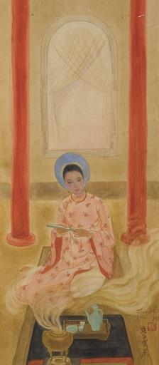 The quest for authentification in Vietnamese paintings.  Example from Le Van De – Lady of Hue