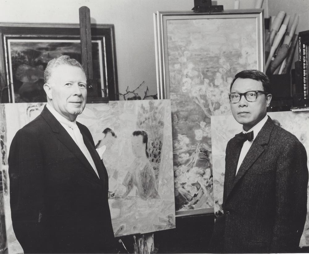 Wally Findlay (gauche) et Le Pho (droite)