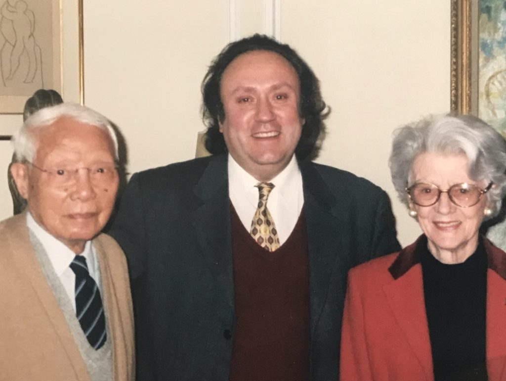 With Le Pho and his wife Paulette, ah their home, in Paris, rue de Vaugirard. 1994.