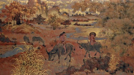 Pham Hau – « Young Cowherds in Tonkinese Landscape »