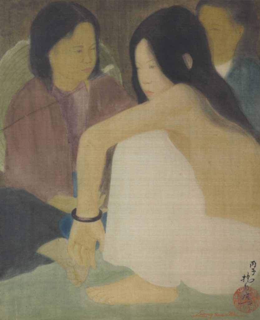 « Three Young Ladies » by Luong Xuan Nhi, 1936.