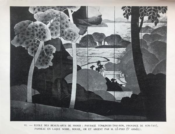 Extrait de  « Trois Écoles d'Art de l'Indochine » (Gouvernement général de l'Indochine. Direction générale de l'Instruction publique. Hanoi 1931)