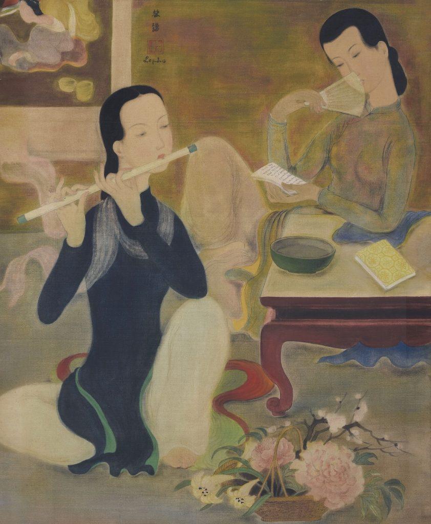 « Le Concert ». Gouache et encre sur soie. Circa 1938-40