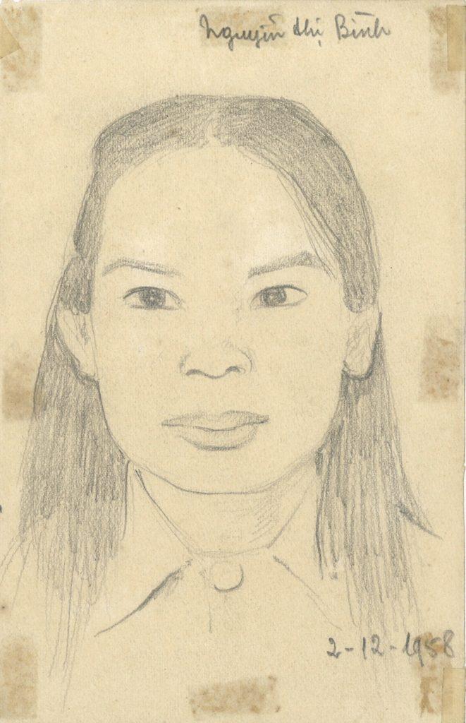 Tran Quang Tran – Portrait of Nguyen Thi Binh