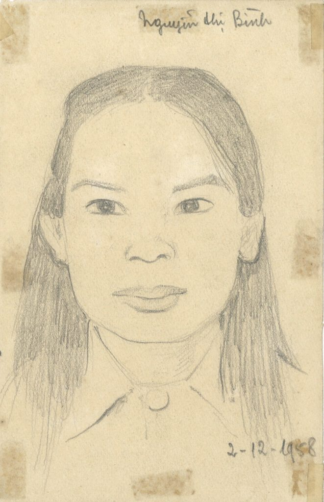 Tran Quang Tran - Portrait de Nguyen Thi Binh