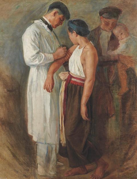 « La Vaccination »; «La Tonkinoise»; «La Vietnamienne à l'enfant» by Victor Tardieu. c.1925