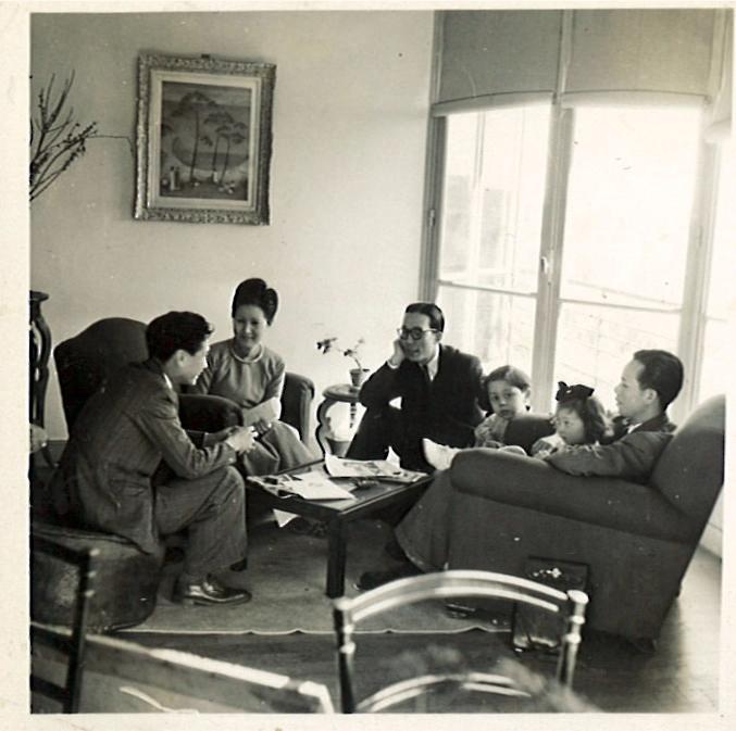 Chez Mai Thu à Vanves avec Vu Cao Dam, 1946