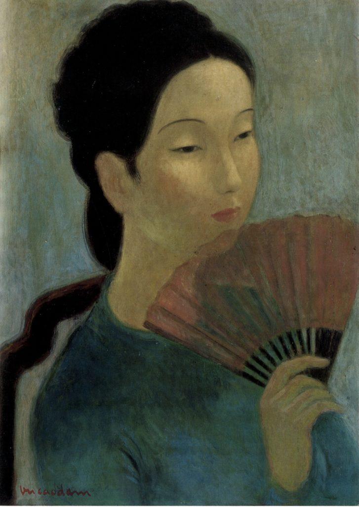 Vu Cao Dam - Jeune Femme à l'Éventail