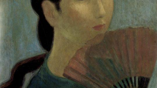 Vu Cao Dam – Jeune Femme à l'Éventail. 1951