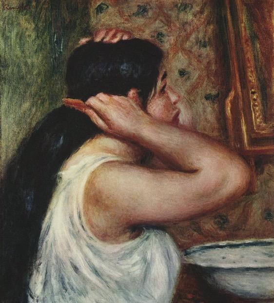 «La Toilette: femme se peignant» Auguste Renoir, 1907