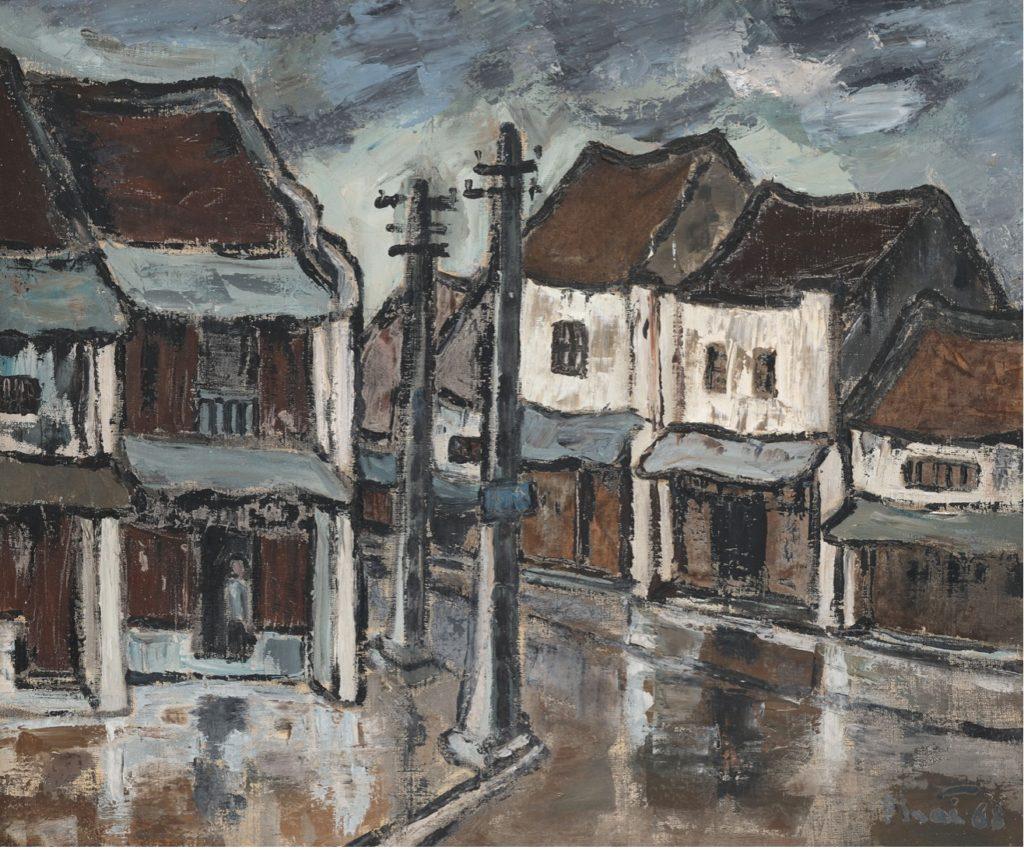 Bui Xuan Phai (1920-1988) « Rues d'Hanoi ». 1968.