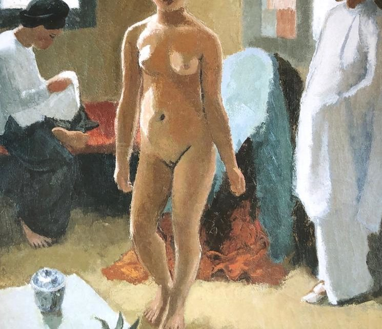 « Woman With a Pineapple » Joseph Inguimberty