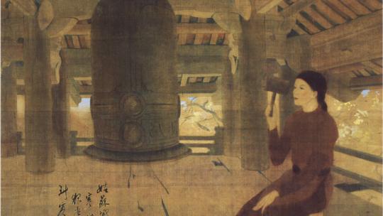 Carillons de fin d'après-midi : un chef-d'oeuvre de la peinture vietnamienne par Luong Xuan Nhi