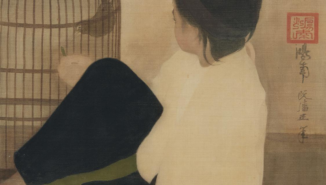 Nguyen Phan Chanh: «L'Enfant à l'oiseau»