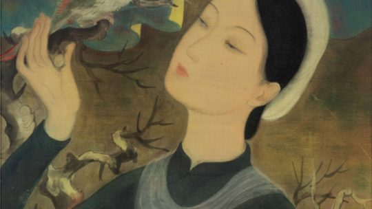 """The happy triumph of a painter over himself: """"The Woman With The Parrot"""" by Le Pho. Circa 1938"""