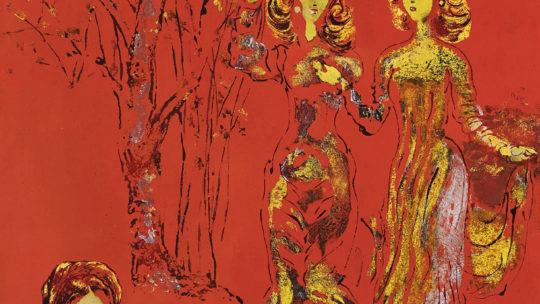 « Nostalgie du Haut-Tonkin » & « Les Élégantes », 1968, two masterworks by Nguyen Gia Tri