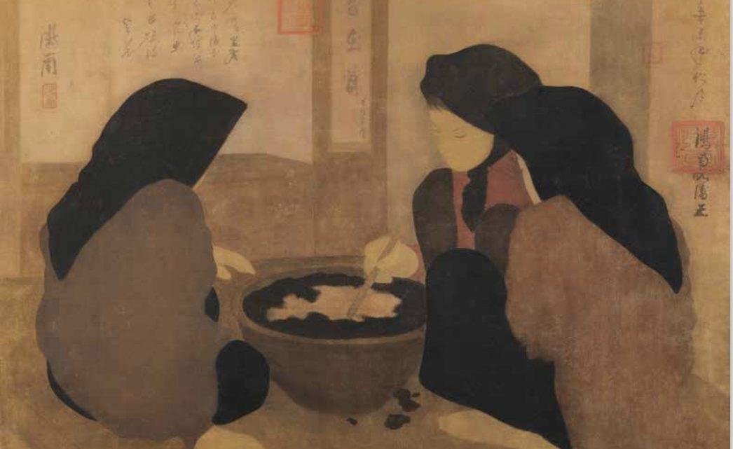Nguyen Phan Chanh, 1931 « Les Teinturières»ou la signification du signe