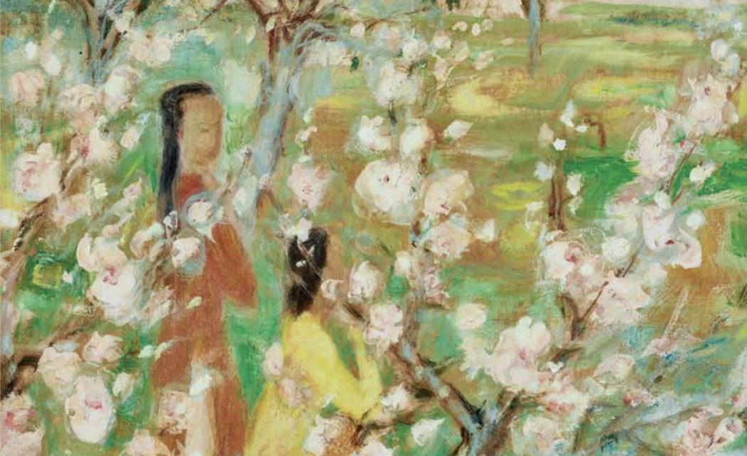 Le Pho « Le Printemps », 1955, un tournant artistique dans l'œuvre du peintre